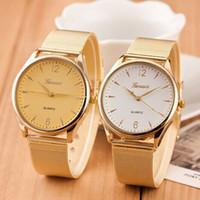 часы нержавеющие 1шт оптовых-Wholesale-2015 Super Montre, 1PC Fashion Womens Classic Watch Gold Top  Lady Elegent Watches Quartz Stainless Steel Mesh Golden Reloj
