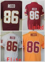 2017 2018 Hot Sale 86 Reed Red White Yellow Throwback Elite Game Limited Stitched Jerseys Men Women Youth Kids Mix Order