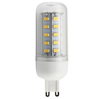 Wholesale G9 Bulb White - Warm White E27 LED Corn Bulb Light 5W 7W 9W 12W hight Lumen Cree SMD 5730 With Cover 56 leds GU10 E14 G9 Office Lights