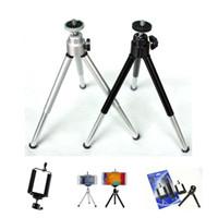 kamera drehen großhandel-Universal Mini 360 rotierenden ausziehbaren Mini-Handy-Kamera Stativ Ständer Halter für iPhone 8 X Samsung S8 Mobile Handy