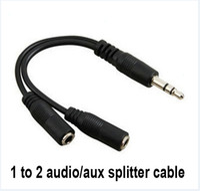 наушники женские 3,5 мм оптовых-горячий аудио кабель преобразования 3,5 мм мужчин и женщин разъем для наушников Splitter аудио кабель-адаптер оптом