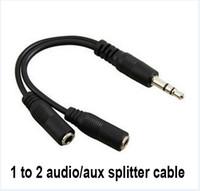 kızılötesi 3.5mm toptan satış-Sıcak Ses Dönüşüm Kablosu 3.5mm Erkek Kadın Kulaklık Jakı Splitter Ses Adaptör Kablosu Toptan