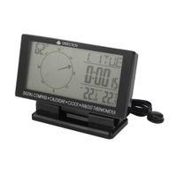 ingrosso orologi termometro per auto-CD60 Auto doppio display digitale / puntatore, bussola digitale per auto con orologio termometro, calendario spedizione gratuita