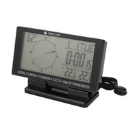 Wholesale Clock Pointer - CD60 Auto Double display digital  pointer display ,Digital Car Compass with Thermometer & Clock, Calendar free shipping
