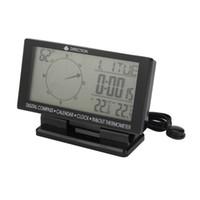 araba termometre saatleri toptan satış-CD60 Otomatik Çift ekran dijital / işaretçi ekran, Dijital Araba Pusula Termometre Saat, Takvim ücretsiz kargo ile