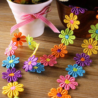 Wholesale Lace Trim Ribbon Multicolor Embroidered Lace Flower Costume Apparel Sewing Crafts Boutique Decoration YR0002