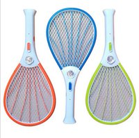 Wholesale Mosquito Fly Swatter - Mosquito Nets Swatter Bug Insect Electric Fly Zapper Killer Racket Rechargeable With LED Flashlight Household Sundries Pest Control