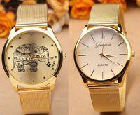 Wholesale Elephant Pins - 2016 Fashion unisex metal geneva men women watch luxury Reticularis Mesh ladies casual monkey elephant design quartz watches