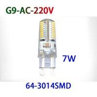 Wholesale G9 6w Led Light Bulb - High quality LED Bulbs G9 LED Bulb 110V 220V SMD 3014 3528 7W 6W 9W LED Lamp Warm Cool White LED Corn Bulb Light Crystal Lamp Light