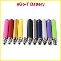 Wholesale Mini Ce4 Clearomizer Atomizer - EGO-T EGO t battery E Cigarette 650 900 1100mAh Battery for ce4 ce5 ce6 mini protank atomizer clearomizer colorful