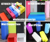 Wholesale Silicone Rubber Bag Case - Istick Silicone rubber Cases carry Bag Silicon box protective cover For Istick 30w 20w 50w cloupor mini 30w IPV Mini 2 box mod