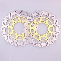 Wholesale Brake Disc Front Suzuki Gsxr - motorcycle Front Brake Discs Rotor For Suzuki GSXR 600 750 2008 2009 2010 2011 2012 2013 GSXR1000 2009-2010 Gold