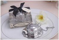 infusores de té favorece al por mayor-ENVÍO GRATIS DHL NUEVA LLEGADA + Té de Tetera de Alta Calidad Tiempo Tetera Infuser Regalo de Boda Infuser Favors + 100 sets / Lot 1203 # 03