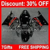 Wholesale Honda Rc51 Body Kits - 7gift Grey Black Full Fairing Kit For HONDA RC51 VTR1000 SP1 VTR 1000 SP2 00 01 02 03 04 05 06 2000 2001 2005 2006 Fairings Bodywork Body H#