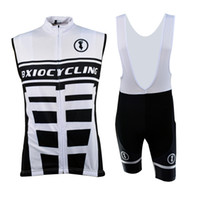 Wholesale Cheap Cyclist Jerseys - Pro Sleeveless Cycle Clothing Sets for Cyclist Lycra Polyester Cycle Shorts Cheap Team Cycling Jerseys BX-0309BW-002