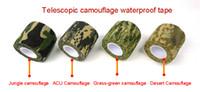 Wholesale Camouflage Adhesive Tape - Mix Color Self Adhesive Elastic Bandage Army Camo Wrap Rifle Shooting Hunting Camouflage Cohesive Tape 4.5m