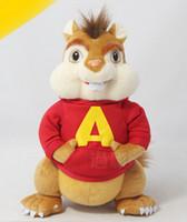 Wholesale Red Stuffed Bear - Wholesale-Free Shipping alvin and the chipmunks plush soft doll stuffed plush