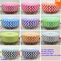Wholesale Chevron Hairbow Ribbon - 1.5 inch Free shipping chevron print 11 colors options printed grosgrain ribbon hairbow diy party wholesale OEM 38mm 100 yards.