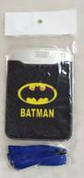визитная карточка бэтмена оптовых-10 шт. Мода Бэтмен Мультфильм ID Карты Держатель Пластиковые Имя Бизнес ID Bus Card Case Для Студенческих Аксессуаров