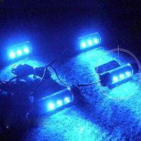 Wholesale Cigarette Lighter Led Lamp - Wholesale-4 x 3 Blue LED Car Charge Glow Interior Decorative Neon Atmosphere Lights Lamp( 4pcs lights and 1 cigarette lighter)