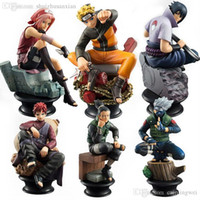Collection De Jouets En Gros Pas Cher-Gros-6 PCS / Set Naruto Action Figure Doll Haute Qualité Sasuke Gaara Shikamaru Kakashi Sakura Naruto Anime Jouets Collection for Boys
