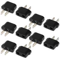 Wholesale Europe Usa Adapter - US USA to EU Euro Europe Power Jack Wall Plug Converter Travel Adapter 50PCS free shipping
