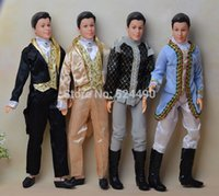Wholesale Ken Doll Clothes Accessories - Ken Doll + Clothing Set + Shoes   with 12 joint Flexible   with Formal Dress Clothes   for Barbie Boy Bridegroom Doll Gift Toy