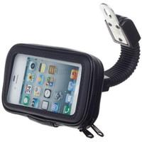 motorradhalterung iphone fall großhandel-Universelle wasserdichte Tasche Motorrad Spiegelhalterung Handyhalter für iPhone 6s plus 7 7plus
