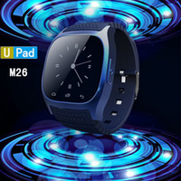 Wholesale Tracker Led Lights - Fashion smart watch R-Watch M26 Bluetooth Smart LED Light Display m26 smartwatch with Dial   Call Answer   SMS Reminding for Android and IOS