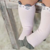 Wholesale Korean Clothing Crochet - Cartoon Knit Knee High Socks Baby Socks Kids Sock Children Clothes Kids Clothing 2015 Korean Infant Boys Girls Crochet Socks For Kids C11439