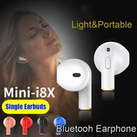 Mini-I8X sem fio Bluetooth Single fone de ouvido com microfone Music Sport Headset Universal para Iphone 8 8 mais Samsung Xiaomi Mobile Phones
