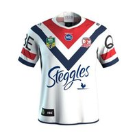 Wholesale Spider Man Top - 2018 NRL JERSEYS SYDNEY ROOSTERS 2017 Sydney Roosters rugby jerseys Spider jerseys top quality Roosters shirts size S-3XL