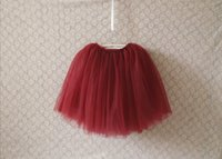 Wholesale Party Babys - Fashion new girls lace tutu skirt Children babys kids new spring summer lace princess party skirts dark red beige gray black A7051