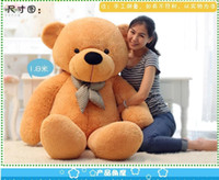Wholesale Low Price Toys - New 200cm 3 Colors Giant Large Size Teddy Bear Plush Stuffed Toy Lowest Price Birthday gifts