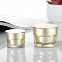 Wholesale empty face bottles online - Golden Acrylic Conical Cosmetic Empty Jar Pot Eyeshadow Makeup Face Cream Plastic Container Bottle Capacity g g F20172403