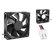 Wholesale 92mm Fan - Wholesale- GTFS-92mm x 25mm DC 12V 2Pin 65.01CFM Computer Case CPU Cooler Cooling Fan