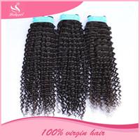 Wholesale Wholesale Eurasian Virgin Hair - Cambodian Virgin Hair Deep Wave Curly Unprocessed Brazilian Eurasian Mongolian Indian Peruvian Malaysian Human Hair Weaves DHL Free Shipping
