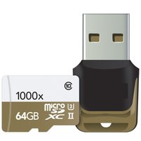Wholesale Usb Memory Card 128gb - 2017 32GB 64GB 128GB microSDXC UHS-II 1000X High-Performance U3 Memory Card & USB 3.0 Reader 2-Pack 150MB s for tablet PC