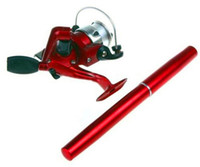 seestangenrollen groihandel-Qualität 6 färbt mini Aluminiumtaschen-Seefeder-Angelruten Pole + Reel freies Verschiffen