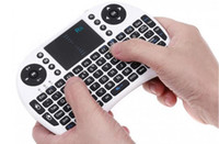 Wholesale Tv Box Pc 1pcs - 1pcs Rii I8 no backlit Fly Air Mouse Mini Wireless Handheld Keyboard 2.4GHz Touchpad Remote Control For M8S MXQ MXIII TV BOX Mini PC