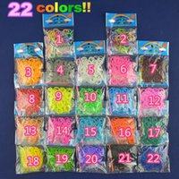 Wholesale Loom Charm Package - 22 colors for choice HOT SALE Factory-Direct-Sale High Quality Solid Color loom Rubber bands 200 peices with opp package