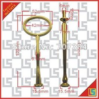 Wholesale Oval Cake Stand Handles - Cheap~2 tiers set oval design cake stand handles cake stand metal handles gold 1109#09