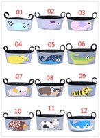 Wholesale Nappy Bag Accessories - Baby Kids Stroller Organizer Baby Carriage Pram By Cart Bottle Bags Stroller Accessories Mommy Bag pannier saddlebag Pouch Free B11