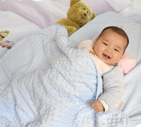 Wholesale Baby Coral Fleece Fabric - baby chevron minky blanket knitting,75X100cm shower gift baby cotton blanket minky dot, mink children super soft blanket