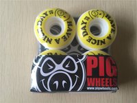 Wholesale Pig Skateboard Wheels - 2015 Origianal PIG Skateboard Wheels HAVE A NICE DAY Wheels Skate Aggressive PU Rodas 51mm, 53mm & 55mm Available