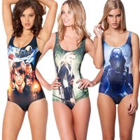 Hot Movie donne dello swimwear ragazze Costume intero modo 3D Superwoman Star Wars Batman Biancaneve Potter magia