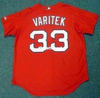 Personalizzato personalizzato JASON VARITEK Boston Red Sox 2005 Majestic autentico Throwback Baseball Jersey Retro Mens Jerseys