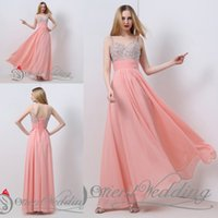 Wholesale Dress Evening Watermelon - Fashion In Stock Watermelon US2-US16 Real Picture Sweetheart Beaded Crystal Sequin A-line Long Evening Party Gown Prom Dresses