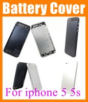 Wholesale Battery Cover Iphone Original - Phone Housings for iphone 5 5G iphone 5s Back Cover Battery Housing case skin Faceplate Replacement Original copy cover Black & White SNP002