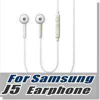 weiße mikrofone großhandel-Für Samsung S6 Ohrhörer OEM 3,5 mm Verwicklung Free Stereo Headset mit Mikrofon und Lautstärketaste für Smartphone - Mit Einzelhandel Verpackung - Weiß